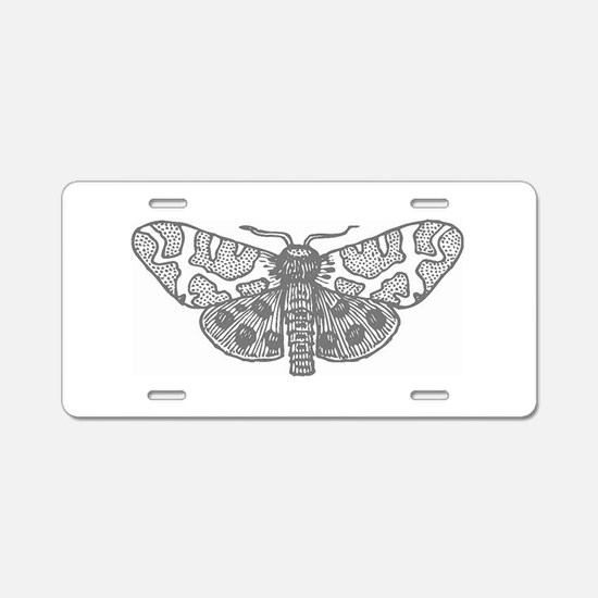 Moonlit Silver Aluminum License Plate