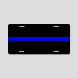 Police Thin Blue Line Aluminum License Plate