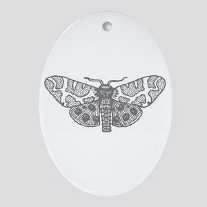 Moonlit Silver Ornament (Oval)