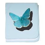 Blue Moth baby blanket