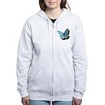 Blue Moth Women's Zip Hoodie