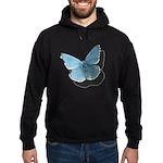 Blue Moth Hoodie (dark)