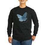 Blue Moth Long Sleeve Dark T-Shirt