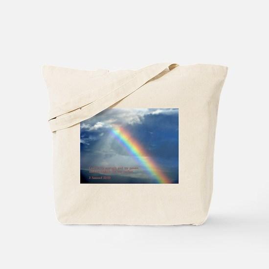 2 Samuel 22:33 Tote Bag