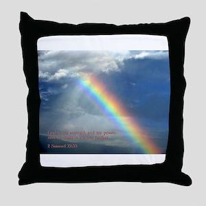 2 Samuel 22:33 Throw Pillow