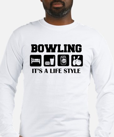 Funny Bowling Drink Beer Long Sleeve T-Shirt