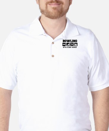 Funny Bowling Drink Beer Golf Shirt