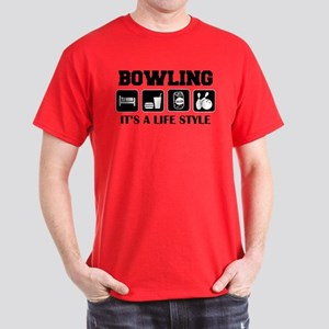 Funny Bowling Drink Beer Dark T-Shirt