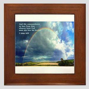 1 John 4:21 Framed Tile