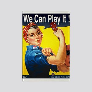 We Can Play It! Rectangle Magnet