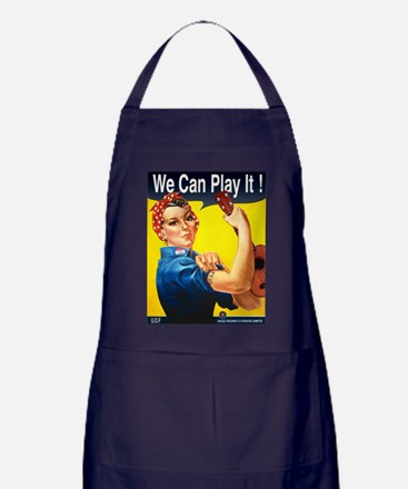 We Can Play It! Apron (dark)