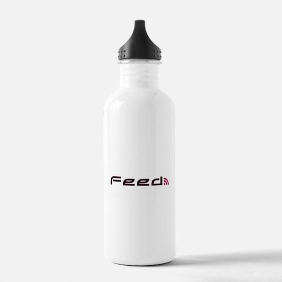 Pink RSS Feed Water Bottle