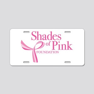 Shades of Pink Foundation Aluminum License Plate