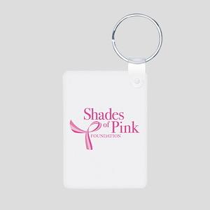 Shades of Pink Foundation Aluminum Photo Keychain