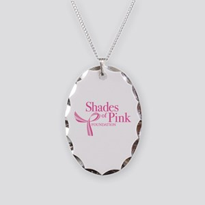 Shades of Pink Foundation Necklace Oval Charm