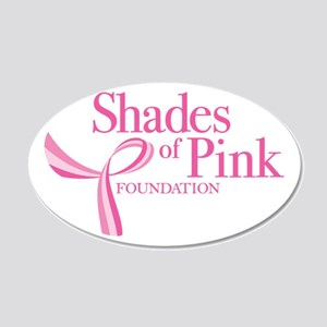 Shades of Pink Foundation 22x14 Oval Wall Peel