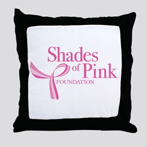 Shades of Pink Foundation Throw Pillow
