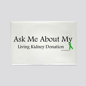 Ask Me Living Kidney Rectangle Magnet