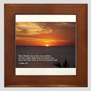 1 John 4:7 Framed Tile