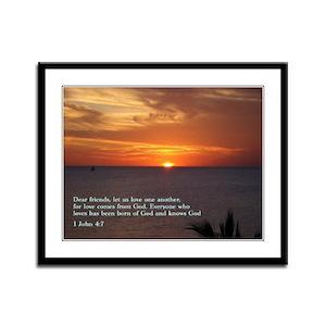 1 John 4:7 Framed Panel Print