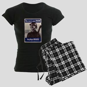 Your Ukulele Friend Women's Dark Pajamas