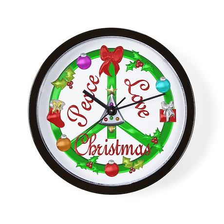 Christmas Peace Sign Wall Clock