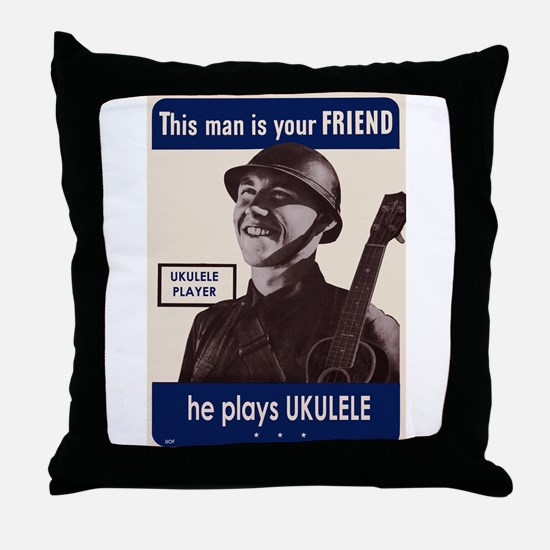 Your Ukulele Friend Throw Pillow