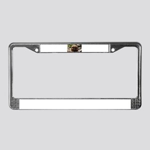 Stone Head License Plate Frame