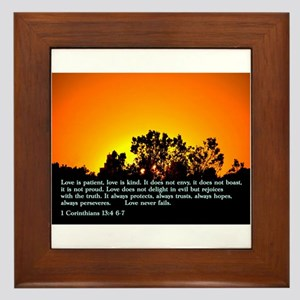 1 Corinthians 13:4 6-7 Framed Tile