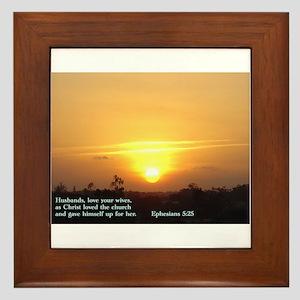Ephesians 5:25 Framed Tile