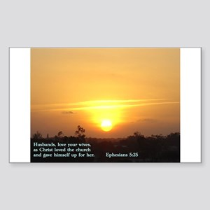 Ephesians 5:25 Sticker (Rectangle)