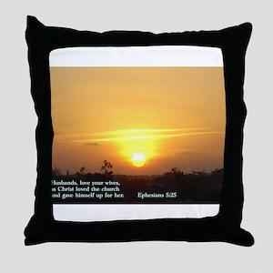 Ephesians 5:25 Throw Pillow