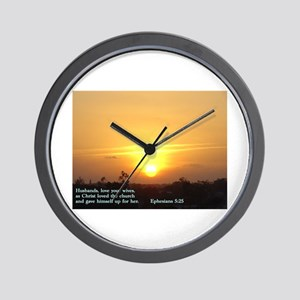 Ephesians 5:25 Wall Clock