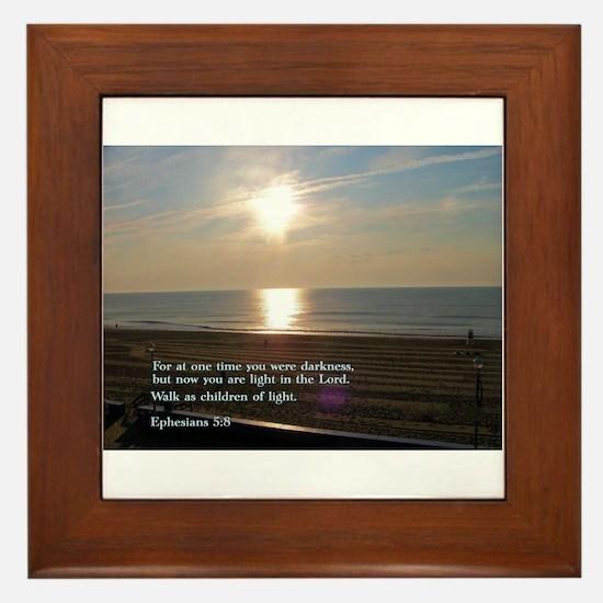 Ephesians 5:8 Framed Tile