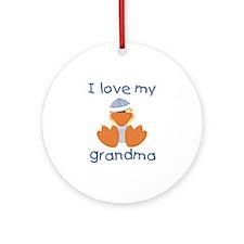 I love my grandma (baby boy ducky) Ornament (Round