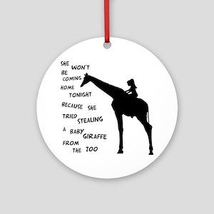 Giraffenapping Ornament (Round)