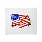 American Flag Butterflies Throw Blanket