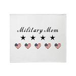 Proud Military Mom Throw Blanket