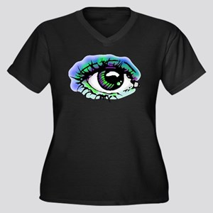 Big Brother Women's Plus Size V-Neck Dark T-Shirt