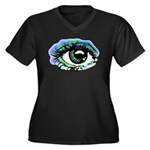 Big Brother Women's Plus Size V-Neck Dark T-Shirt