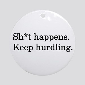Keep Hurdling Ornament (Round)