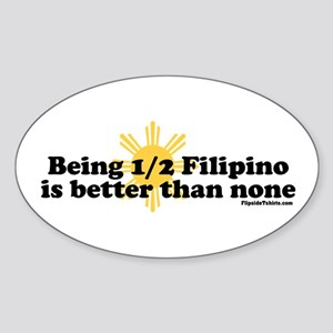 Half Filipino Sticker (Oval)