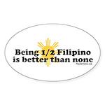 Half Filipino Sticker (Oval 10 pk)