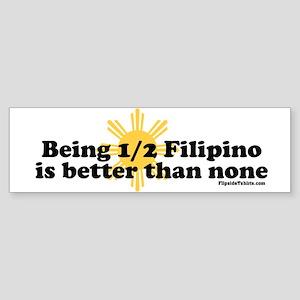 Half Filipino Sticker (Bumper)