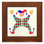 Jester Clown Framed Tile
