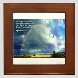 Ephesians 2:8 Framed Tile