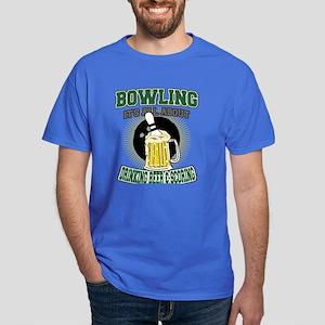 Bowling Just Drinking Beer & Scoring Dark T-Shirt