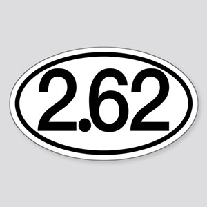 2.62 Marathon Humor Sticker (Oval)
