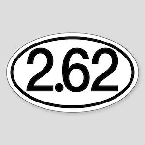 2.62 Marathon Humor Sticker (Oval)