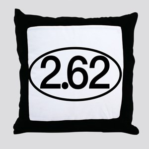 2.62 Marathon Humor Throw Pillow